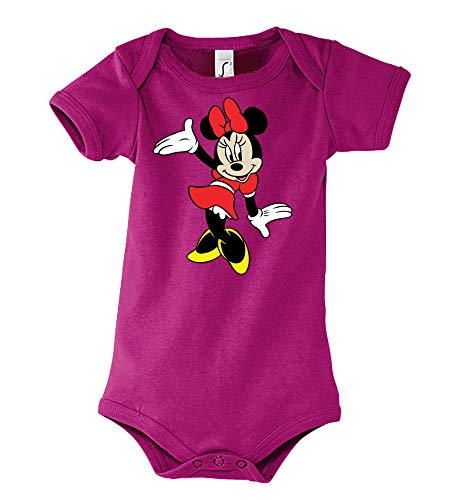 Youth Designz - Body para bebé, diseño de Minnie fucsia 6-12 Meses