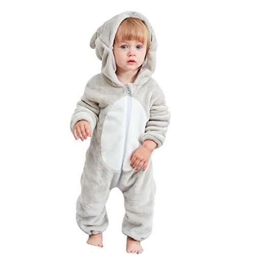 MICHLEY Bebé Ropa Niños Niñas Pijama Disfraces Primavera Franela Traje Animales Pelele laosh-70cm