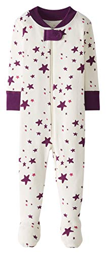 Moon and Back by Hanna Andersson Pijama de Una Pieza con Pies Infant-and-Toddler-Sleepers, Rosa...