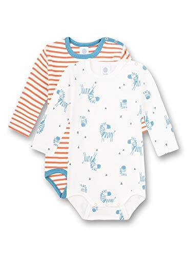 Sanetta Body im Doppelpack Beige Paquete Doble, White Pebble, 4 años para Bebés