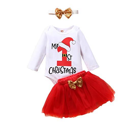 Geagodelia - Conjunto de ropa de bebé para Navidad, ropa de bebé, ropa de Navidad, body de manga...