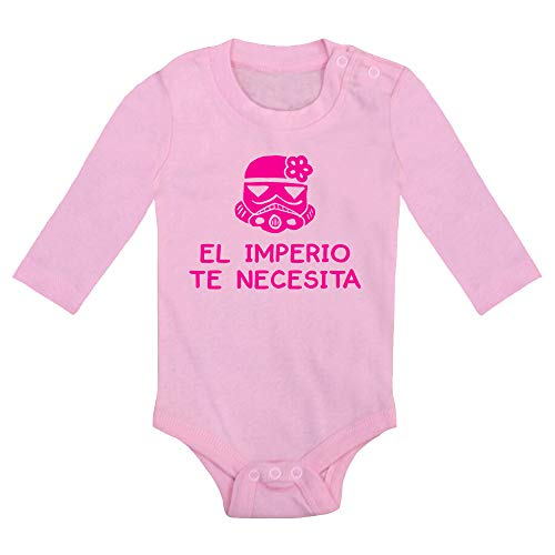 Body bebé El Imperio te Necesita, versión niña. Stormtrooper, Star Wars, La Guerra de Las...