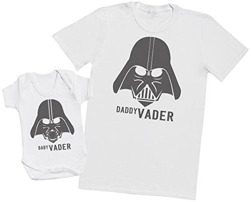 Zarlivia Clothing Baby Vader & Daddy Vader - Regalo para Padres y bebés en un Cuerpo para bebés y...