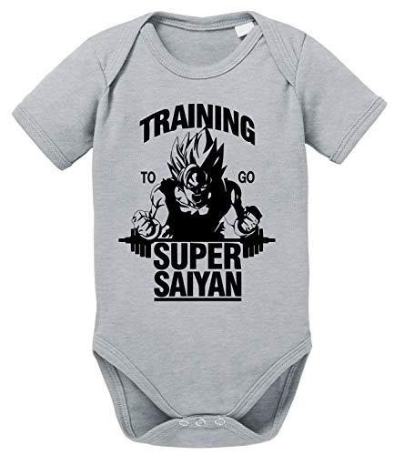 Tee Kiki Goku SS Body Dragon de algodón orgánico Ball Son Proverbs Baby Romper para niños y...