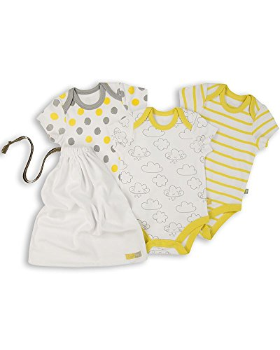 The Essential One - Paquete de 3 Body Bodies para bebé Unisex - 3-6 Meses - ESS169