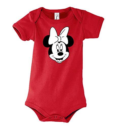 TRVPPY - Body de manga corta para bebé y niña, diseño de ratón mini rojo 3-6 Meses