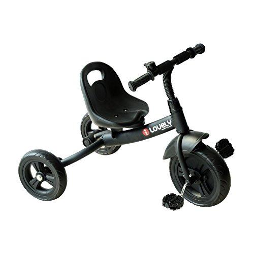 HOMCOM Triciclo para Niños más de 18 Meses con Timbre Guardabarros Rueda de Seguridad 74x49x55cm...