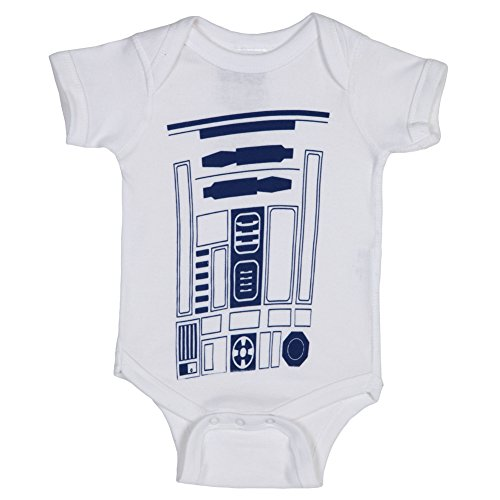 Star Wars - Body - Bebé-Niñas R2-D2 (Weiß) 24 meses