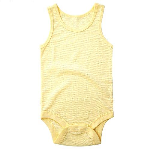Body Unisex Bebé Body Sin Mangas Mono Malla de Algodón 3-6 Meses