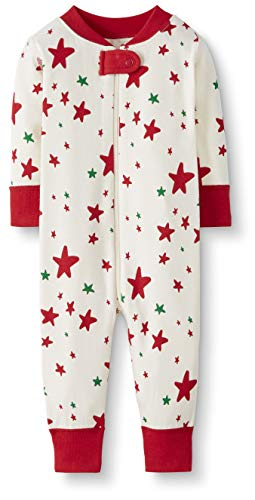 Moon and Back One Piece Footless Pajamas infant-and-toddler-sleepers, Red/Green Star, 0 messes (49...