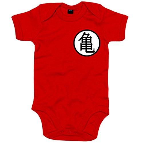 Body Bebé ilustración emblema kanji de Goku - Rojo, 12-18 meses