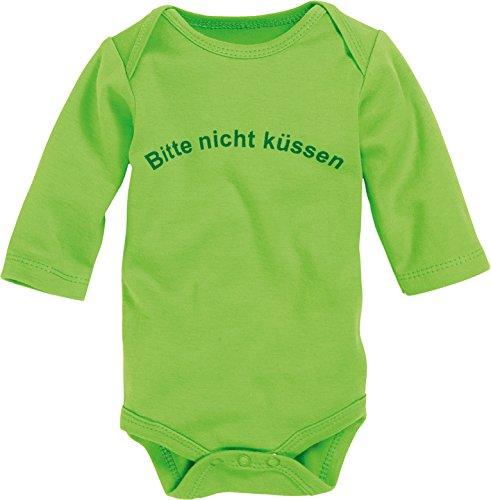 Schnizler Langarm, Bitte Nicht Küssen, Oeko-tex Standard 100 - Body Bebé-Niños, Grün (grün 29),...