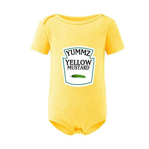 culbutomind Yummz Tomate Ketchup Amarillo Mostaza Rojo y Amarillo Mono Bebé Niño Twins Ropa de...
