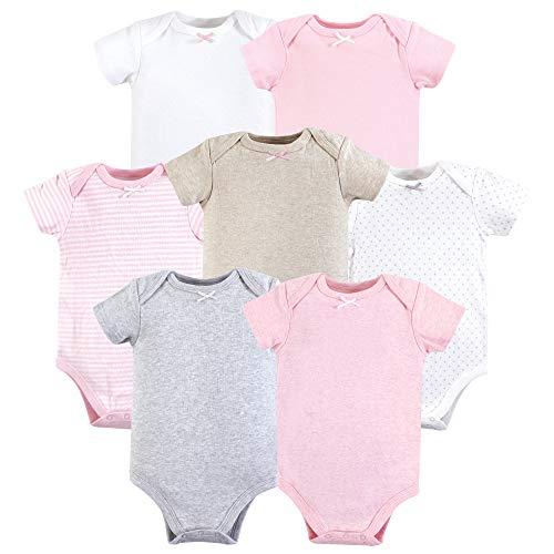 Hudson baby Cotton Bodysuits - Conjunto de camiseta de algodón para bebé Basic para niñas. 0- 3...