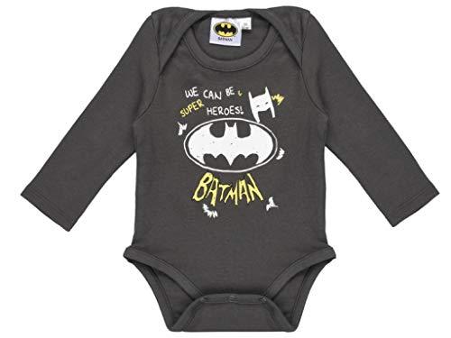 Body para bebé de Batman. gris 6 mes