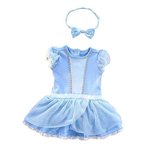 Lito Angels Disfraz de Princesa Cenicienta para Bebé Niñas Body Mono Mamelucos Onesie Vestido de...