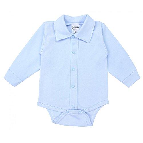TupTam Body para Bebés de Manga Larga con Cuello, Azul, 74
