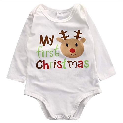 Bebé Recién Nacido Mameluco Mi Primera Navidad Niño Niña Ropa Body Pelele 0-18 Meses Mono de...