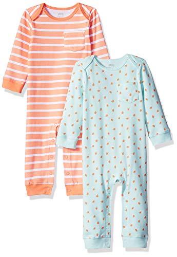 Amazon Essentials - Pack de 2 peleles para niña, Girl Fruit, Bebé prematuro