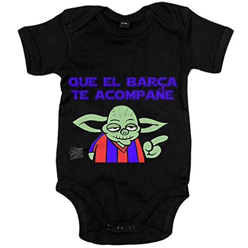 Body bebé que el Barcelona te acompañe - Negro, 12-18 meses