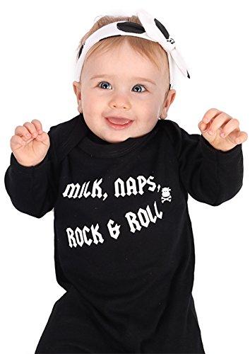 Rock Pijama de bebé para niños o niñas   Nuevo Cool Milk, Naps, Rock & Roll / Mono de – baby...