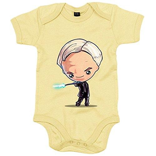 Body bebé Chibi Kawaii parodia de Potter Draco Malfoy parodia - Verde, Talla unica 12 meses