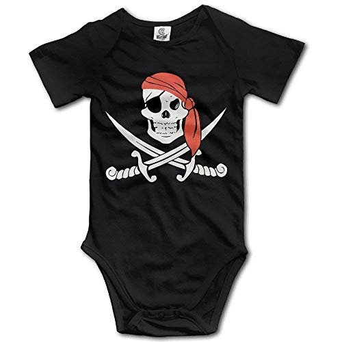 ngmaoyouxis Jolly Roger Pirate Flag Skull & Crossbones Buccaneer Infant Baby Toddler Romper Body