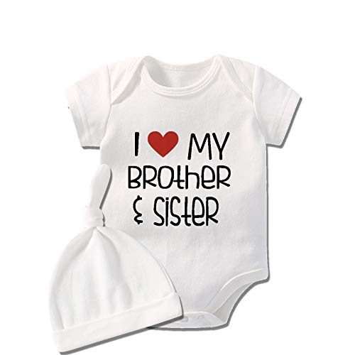 culbutomind Baby Twins Body I Love My Sister and Brother Infantil Casual Niños Ropa Familia Bebé...