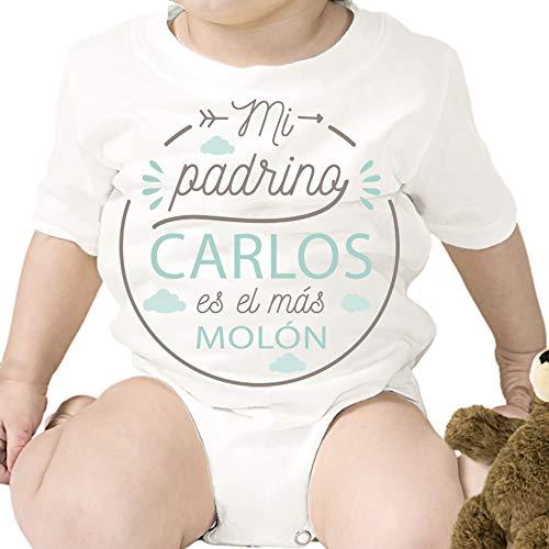 Regalo personalizado: body para bebé 'Padrino Molón' personalizado con parentesco y nombre