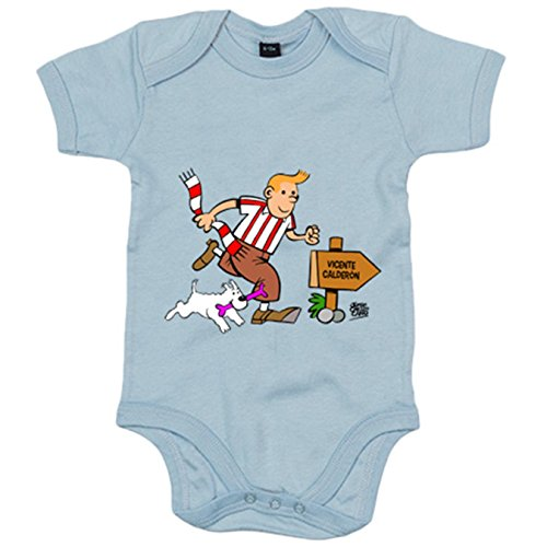 Body bebé Atlético de Madrid Tintín y Milú - Celeste, 12-18 meses