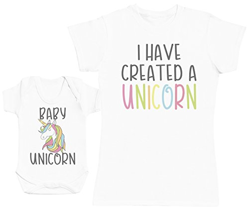 Baby Unicorn - Una Prenda - Parte de un Conjunto - Blanco - Large - Camiseta de señora