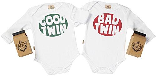 SR - Estuche de presentación - Good & Bad Twin Body Gemelos bebé - Ropa para Gemelos bebé -...