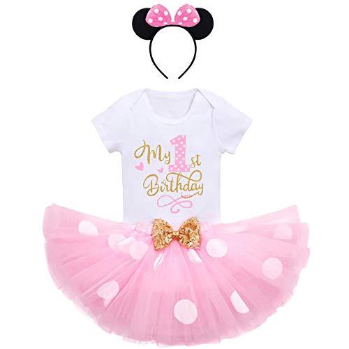 FYMNSI - Conjunto de ropa para bebé y niña, primera infancia, disfraz de ratón, de algodón,...