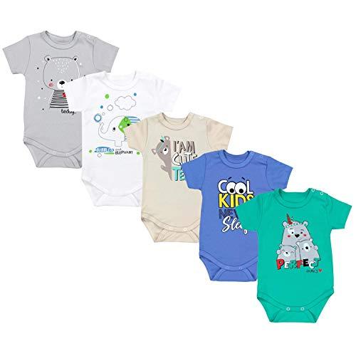 TupTam Body Manga Corta para Bebé Niños, Pack de 5, Niño 4, 56