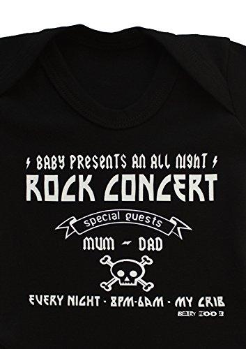 Rock concert diseño de bebé Grow/Funny Rock N Roll Baby Body, Rock & Roll bebé chaleco de regalo...