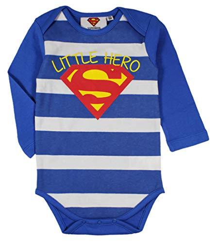 Superman Boys Body de una Pieza de algodón (Azul, 24 Months (92 CM))