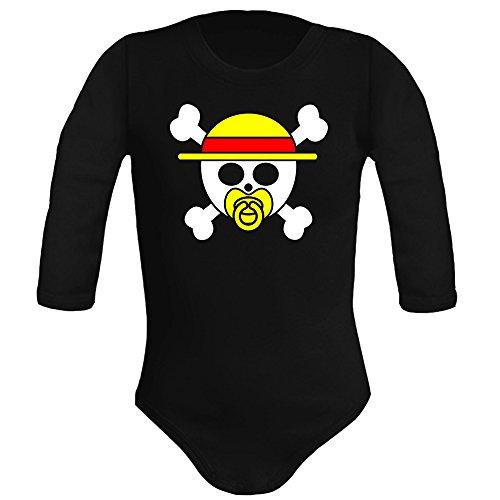 Body bebé unisex One Piece logo bebé parodia. Regalo original. Body bebé divertido. Manga larga....