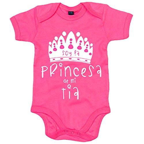 Body bebé Soy la princesa de mi tía - Rosa, 6-12 meses