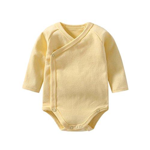 Dooxii Bebé Niños Niñas Manga Larga Bodies Pijama Moda Color Sólido Monos Regalo Combinación...
