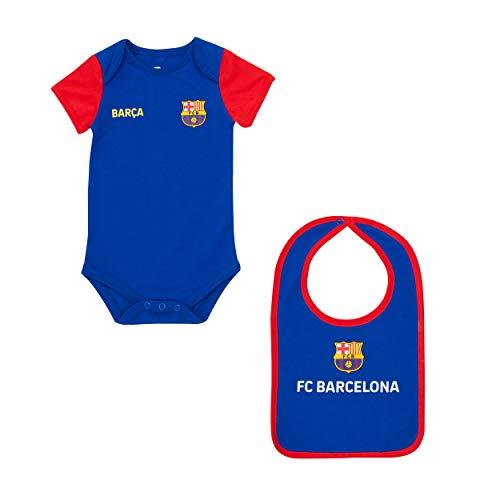 Fc Barcelone Body + Babero bébé Barca - Colección Oficial 18 Mes