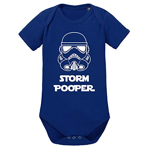 LittleBigFamily Storm Pooper The Dark Side - Body de manga corta para bebé con impresión frontal y...