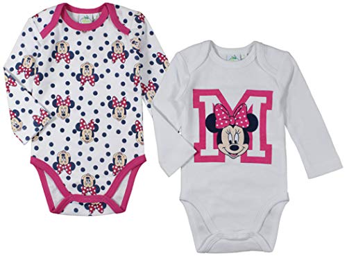 Minnie Disney - Body - para bebé niña Rosa Rosa Blanca 74 cm/9 Meses
