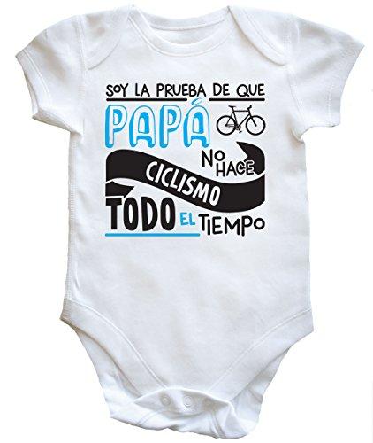 Hippowarehouse Soy La Prueba de Que Papá No Hace Ciclismo Todo El Tiempo Body Bodys Pijama niños...