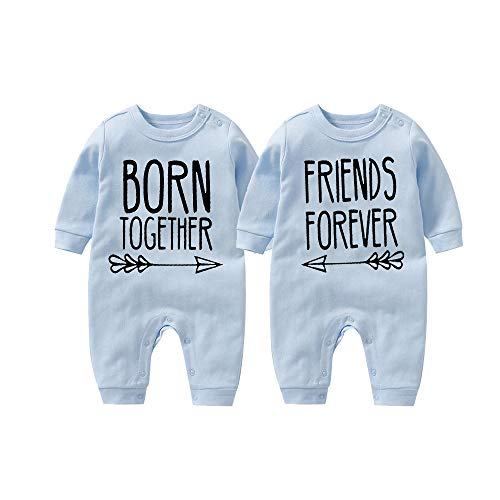 culbutomind Body de bebé Born Together Friends Forever Lindo Twins para recién nacidos