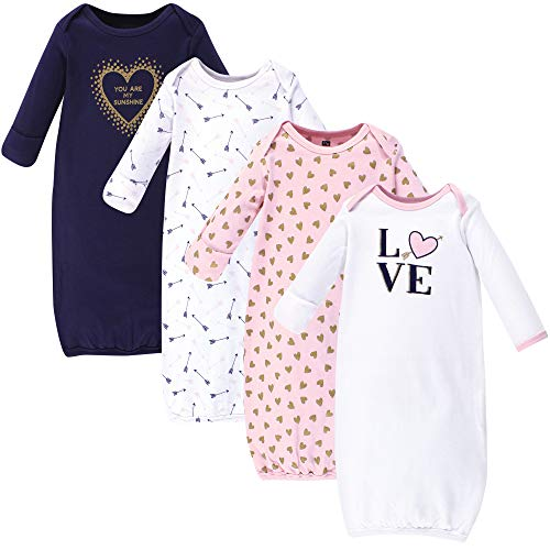 Hudson Baby Gowns, 3 Pack