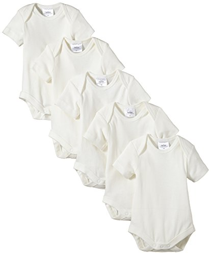 Twins - Body Bebés, pack de 5, Blanco (Off White), 12 meses (Talla del fabricante: 80)