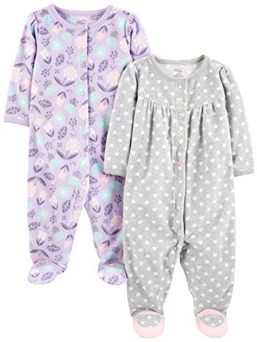 Simple Joys by Carter's Baby Girls paquete de 2 calcetines de forro polar para dormir y jugar...