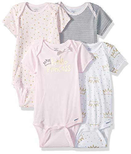 Gerber Unisex bebé bebé bebé 4 Pack Onesies marca - rosa - 18 meses