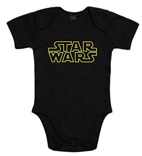 Body de NIÑOS Star Wars Dark Vader Han Solo Fuerza Moul Leia 6Meses