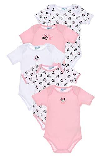 Disney Babybodies - Juego de 5 bodies de Mickey Mouse y Minnie Mouse para niñas y niños...